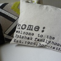Modern Custom Family Personalized Throw Pillow by shannspishak