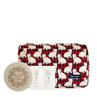 Paul & Joe ASOS Exclusive Cat Print Cosmetic Bag + Hand cream + Eye Treatment Duo Sachet at asos.com