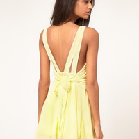 Rare Chiffon Skater Dress With Bow Back on LoLoBu