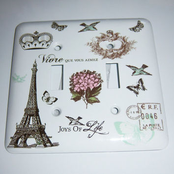 Parisian double  light switch cover