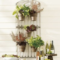 Weathered Metal Wall Planter | Pottery Barn