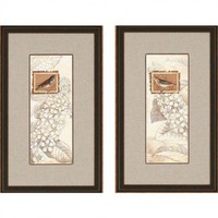 "Paragon Spring Birds by Pertiet Traditional Art (Set of 2) - 19"" x 31"" - 7289 - All Wall Art - Wall Art & Coverings - Decor"