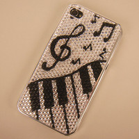 Black and White Music Fun Case for iPhone 4/4S