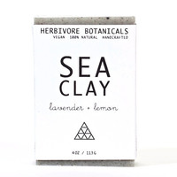 Dead Sea Clay Soap. Essential Oils. Lavender. Lemon. 100% Natural. Vegan Handmade.