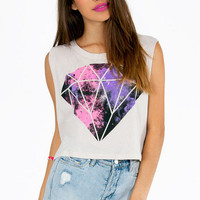 Diamonds in the Sky Crop Top $25