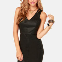 Born to be Styled Black Vegan Leather Dress