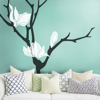 Magnolia Flower Tree Decal