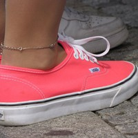 Vans Classic Authentic Plimsole Pink White Womens Trainers
