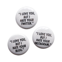 "Adam J. Kurtz > ""I LOVE YOU, BUT…"" Pin Set"