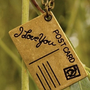 post card Love Note Necklace by qizhouhuang on Etsy