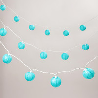 Turquoise Paper 10 Bulb String Lights