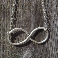 Infinity Necklace Sterling silver by ShireJewelry on Etsy