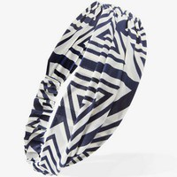 Ruched Geo Print Headwrap