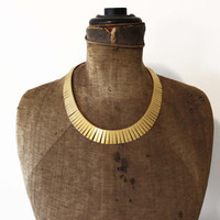 Gold Cleopatra Collar Necklace - Egyptian Collar Necklace - Gold Choker Necklace
