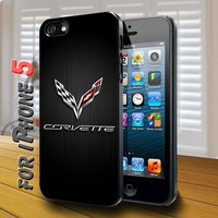 corvette racing logo Black Case for iphone 5