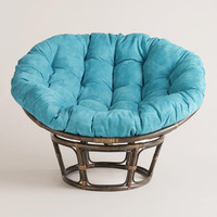 Porcelain Micro Suede Papasan Chair Cushion