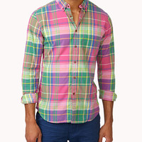 Slim Fit Plaid Button Down