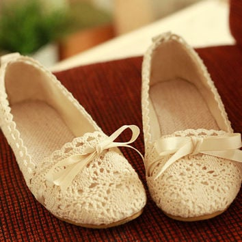 Cute Bowknot Hollow Out Shoes
