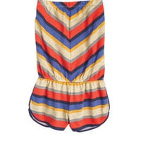 Stripe Terry Cloth Romper