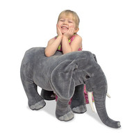 Melissa & Doug Lifelike and Lovable Plush Elephant