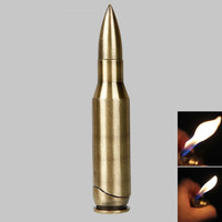 Bullet Butane Refillable Cigarette Lighter Bullet Shape Lighter Flashlight Laser