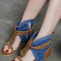 Denim wedge from 2NDAPRIL