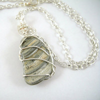 Wire Wrapped Shell Necklace by HCJewelrybyRose on Etsy