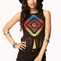 Rainbow Tribal Fringe Tank