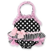 Mud Pie Baby Girls Polka Dot One Piece Bathing Suite