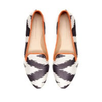 PRINTED FABRIC SLIPPER - Shoes - Woman | ZARA United States