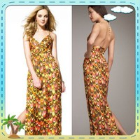 Milly An Original Of New York Leah Halter Maxi Dress Size 4