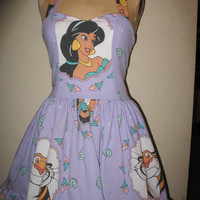 Custom Made to Order Jasmine Rajah from Aladdin Geekery Character Movie Pin up SweetHeart Ruffled Halter Mini Dress