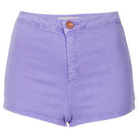 MOTO Lavender Denim Hotpants - Denim  - Clothing
