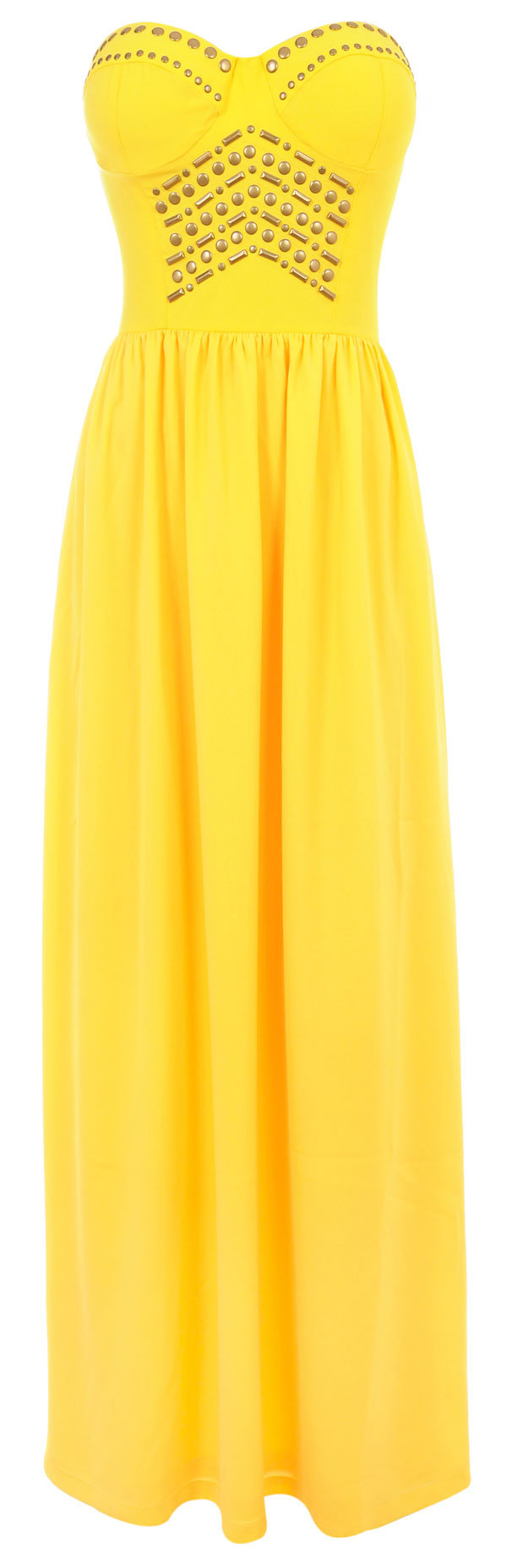 Clothing maxi dresses 39 chiara 39 yellow from celeb boutique for Yellow maxi dress for wedding