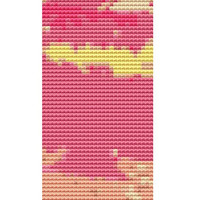 Bookmark Cross stitch kit by Rosie Brown ''Sherbert Palms'' modern abstract cross stitch kit