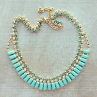 Pree Brulee - Blue Diaphanous Necklace