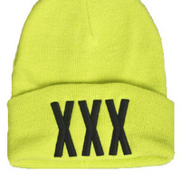 Rum & Koke XXX Beanie in nE0N : Karmaloop.com - Global Concrete Culture