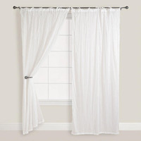 White Crinkle Voile Curtain | World Market