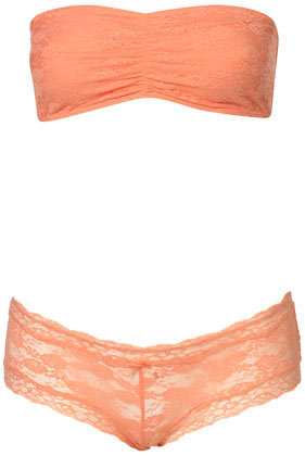 Lace Ruched Bandeau and Ladypants - Lingerie & Nightwear - Clothing - Topshop