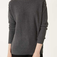 Knitted Moss Stitch Jumper - New In This Week  - New In