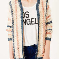 Knitted Hairy Lurex Cardi - New In