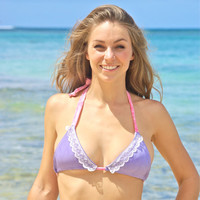 Nanakuli LACE Triangle Slider Bikini Top : Create Your Own