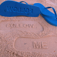 Custom Sand Imprint Flip Flops Your Design No by FlipSideFlipFlops