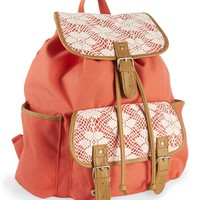 Floral Crochet Rucksack - PS From Aeropostale