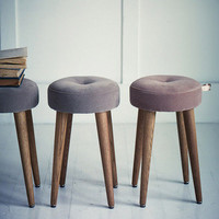 Rowen & Wren - Cadby Velvet Button Stool