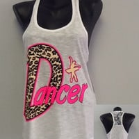 Racer tank w/ laced back- DANCER