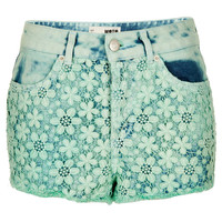 MOTO Green Crochet Hotpants - Denim - Clothing - Topshop USA