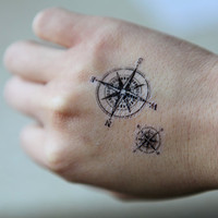 Spirit Ink Temporary Tattoo - Compass