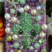 Gorgeous Green Fleur De Lis iPhone 4/4S Case