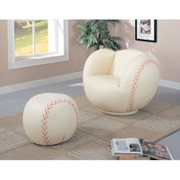 Children Baseball chair and Ottoman